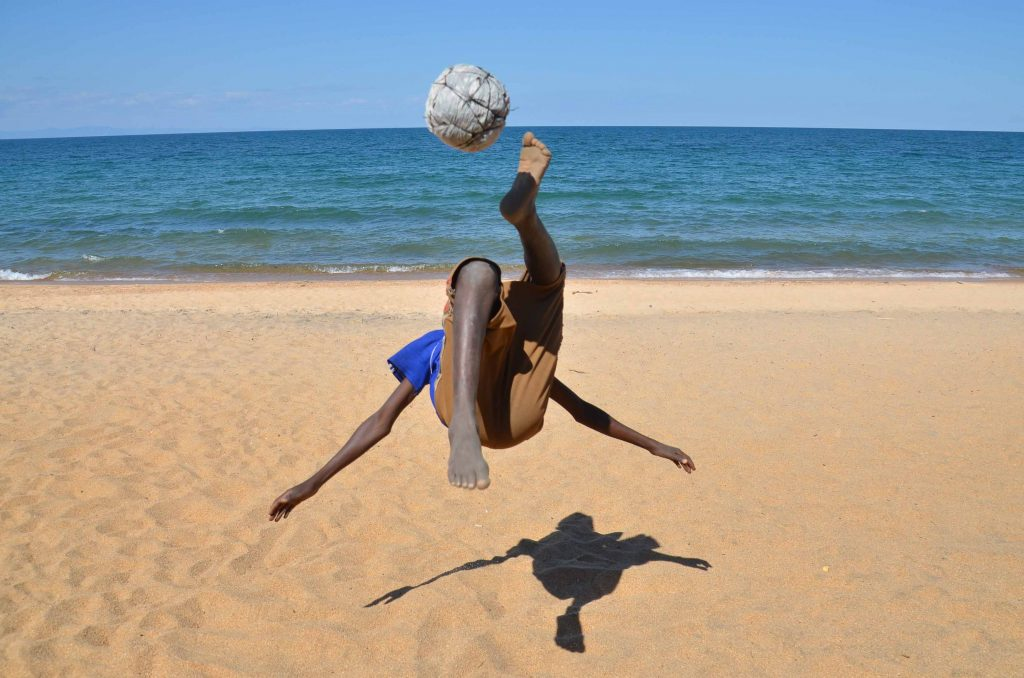 Trading Footballs – Lakeside Acrobatics